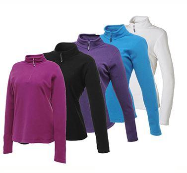 חולצה טרמית מיקרו פליז מעוצבת לנשים במבחר צבעים