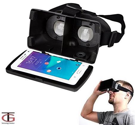 משקפי מציאות מדומה VR עם תאימות מושלמת לאייפון או אנדרואיד לצפייה בסרטים משחקים ועוד