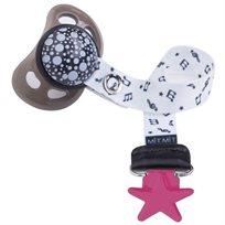 Baby Mitmit תופסן מעוצב למוצץ Happy Music - פוקסיה