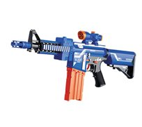 רובה צעצוע לילדים דגם M-16 עם כדורי ספוג
