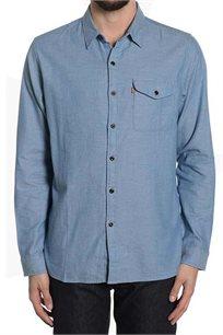 מכופתרת LEVIS לגברים MENS SKATEBORDING REFORM SHIRT 19451-0010 בצבע כחול ג'ינס בהיר