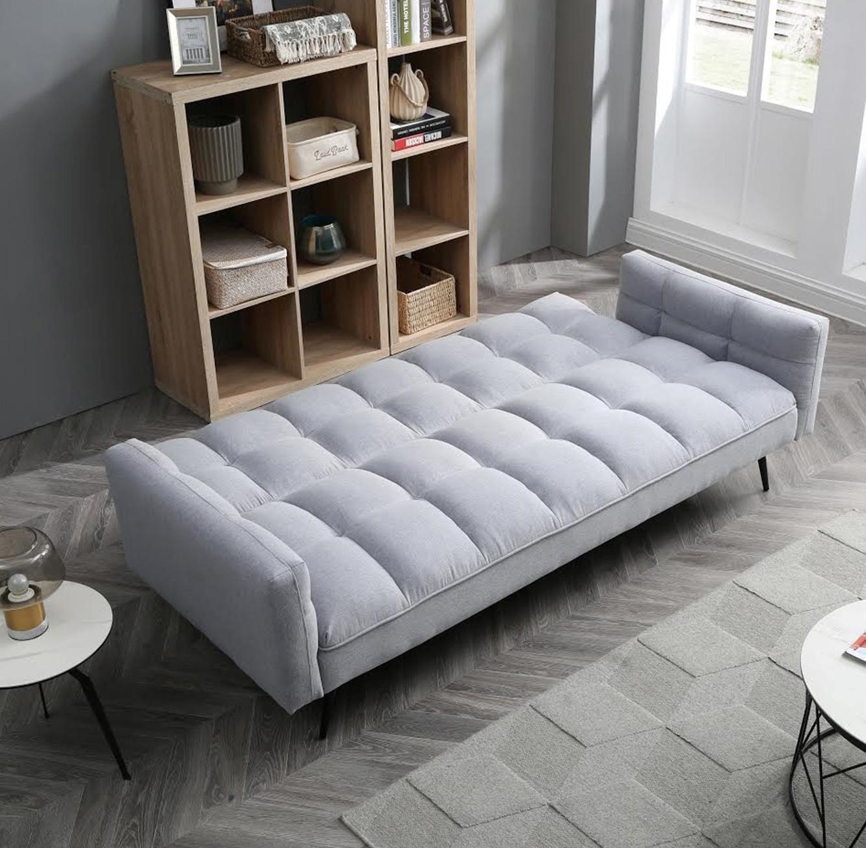 ספת אירוח מעוצבת תלת מושבית נפתחת למיטה וכוללת ידיות צד בגוונים לבחירה - תמונה 3