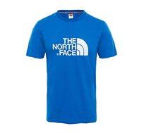 טי שרט לגבר THE NORTH FACE עם לוגו מודפס קדמי בצבע כחול רויאל