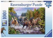 פזל 100 סוסים דוהרים בנהר