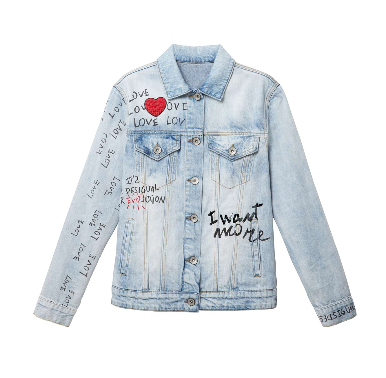 ג'קט ג'ינס MICHIGAN לנשים - כחול בהיר
