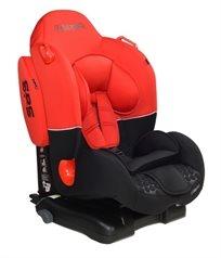 כסא בטיחות ובוסטר Bolen Lux Isofix עם מערכת הגנת צד - שחור/אדום