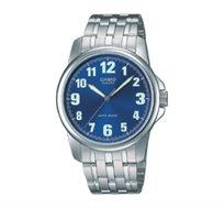 שעון יד אנלוגי עם רצועת מתכת יוקרתית - כסף