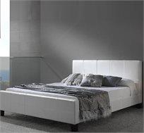 מיטה זוגית GAROX מרופדת דמוי עור בגודל 140X190