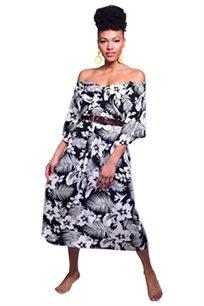 שמלת OVERSIZE שחור לבן
