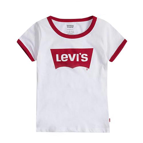 Levis/  טישרט - (15-2 שנים) לבן שילוב אדום