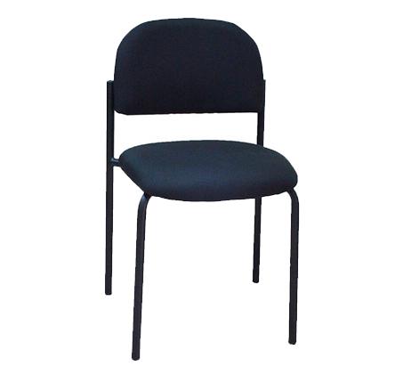 כיסא אורח בריפוד בד בשילוב מתכת דגם רקפת