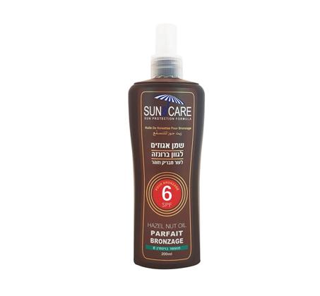 """מארז 3 יחידות 200 מ""""ל שמן אגוזים Sun&Care SPF6"""