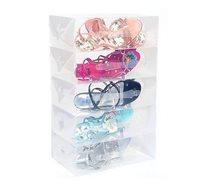 סט ייחודי של 10 קופסאות שקופות ומעוצבות לנעליים המגנות מפני שריטות, אבק ולכלוך!