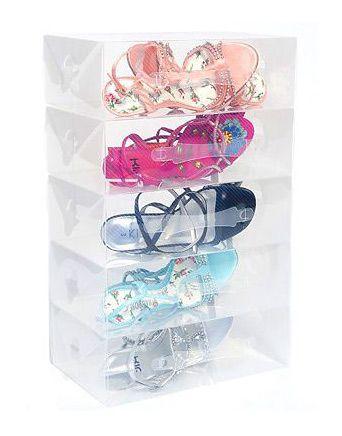 סט קופסאות פלסטיק לאחסון נעליים