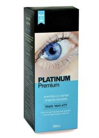 5 אריזות של תמיסת Platinum Premium רב תכליתית וחדשנית לשימוש בעדשות סיליקון הידרוג'ל, רק ₪29 לאריזה