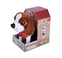 כלב BO חום עם חוט Spark toys