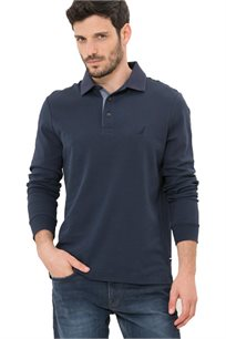חולצת פולו ארוכה Nautica לגברים דגם 73967K4NV בצבע כחול