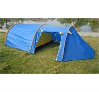 אוהל משפחתי עם 2 חדרים בעל כניסה רחבה ורשת נגד יתושים