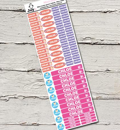 סט 75 מדבקות סימון עמידות במים במידות שונות במגוון דגמים וצבעים סדרת מיניקומבי - תמונה 2