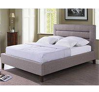 מיטה זוגית GAROX בריפוד בד רך למגע 140X190 דגם LINEA - משלוח חינם