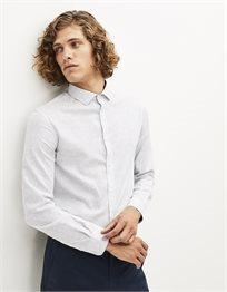 חולצה מכופתרת בגזרה צרה כותנה איטלקית