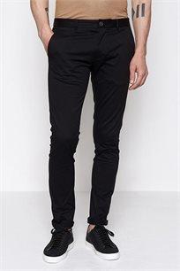 מכנסי בד קזואל לגבר DEVRED בצבע שחור