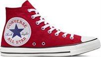 סניקרס קונברס גבוה נשים Chuck Taylor Big Logo אדום