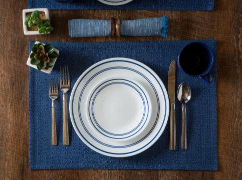 סט ל-12 סועדים 84 חלקים: 36 צלחות Classic café blue + סט סכו״ם 48 חלקים קורנינג - משלוח חינם - תמונה 6