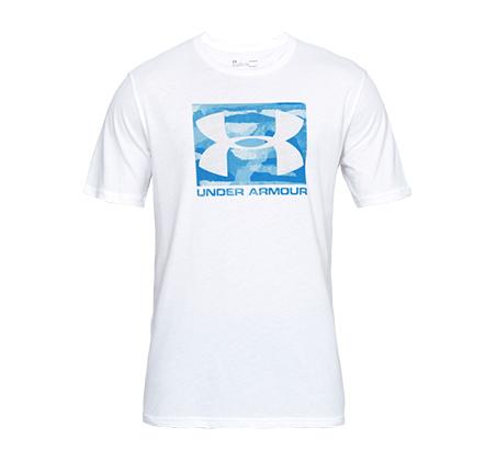 חולצת טי שרט עם הדפס Under Armour Boxed Sportstyle SS - לבן