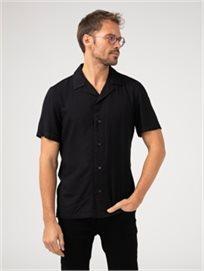 חולצת באולינג שחורה