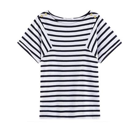 חולצת פסים PROMOD - כחול/לבן
