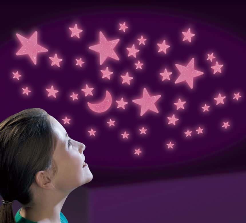 מדבקות כוכבים ורודים זוהרים מבית Brainstorm - תמונה 2