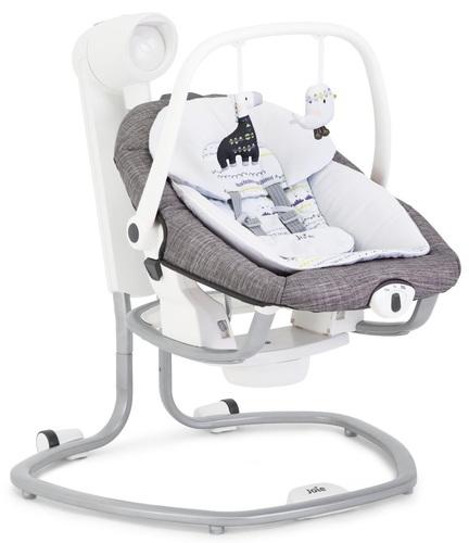 אולטרה מידי נדנדה חשמלית וטרמפולינה לתינוק 2 ב 1 - אפור ID-85