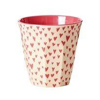 כוס מלמין טוטון לבבות קטנים - Rice
