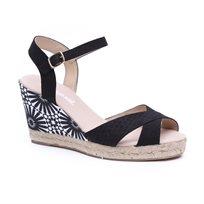 Desigual Shoes Bahia - סנדל פלטפורמה לנשים עם הדפס מיוחד בצבע שחור
