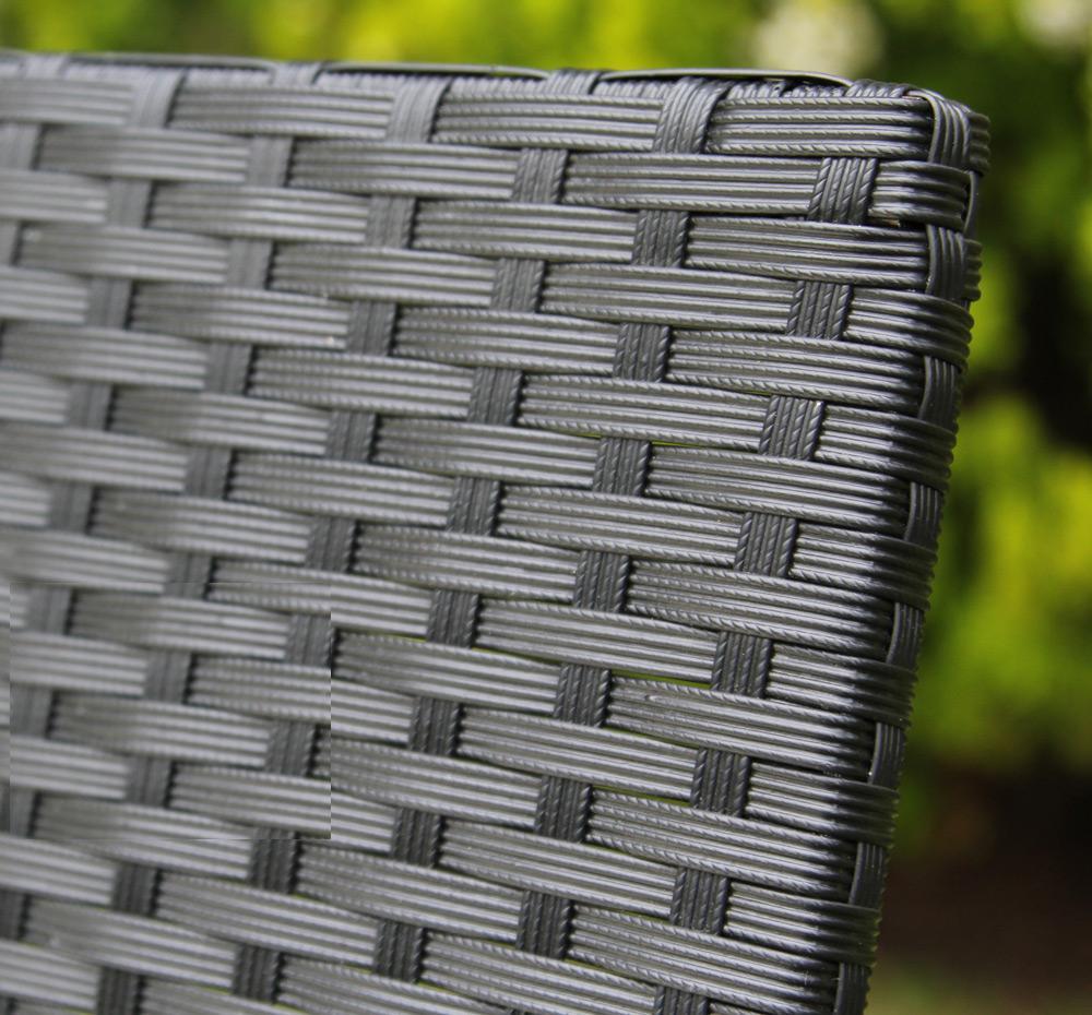 סט ריהוט גינה מראטן סינטטי איכותי הכולל שולחן פלטת זכוכית, זוג כורסאות וספה דו מושבית Homax - תמונה 6