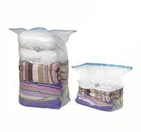 כיווצנו את המחיר! 3 שקיות ואקום ענקיות בצורת קובייה לאחסון שמיכות, בגדים, מגבות, מעילים ועוד
