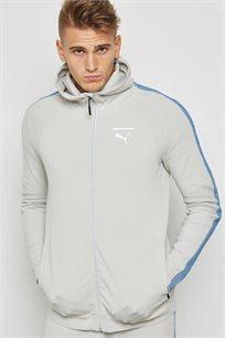 סווטשירט PUMA לגבר בסגנון ספורטיבי דגם 57336757 בצבע אפור בהיר