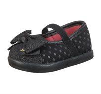 נעלי בובה נקודות לפעוטות - שחור