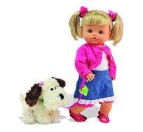 ננה בובת פיפי פופו מבית במבולינה Bambolina כוללת כלב ומשמיעה צלילים