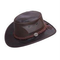 Barmah 1064OI - כובע מעור זמש בשילוב רשת