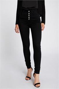 מכנס צמוד ומחטב בגזרת SLIM בצבע שחור