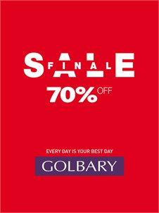 FINAL SALEב-GOLBARYעד 70% הנחה!