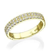 """טבעת יהלומים """"סוזן"""" 0.75 קראט מזהב צהוב או לבן לבחירה"""