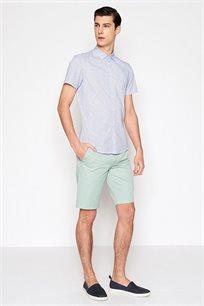 מכנסי כותנה ברמודה קז'ואל לגבר DEVRED דגם 4066093 בצבע ירוק בהיר