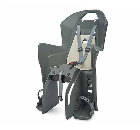 מושב אופניים לתינוק - אפור/קרם