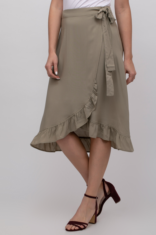 חצאית אריג מעטפה