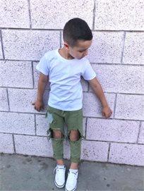 Oro/  ג'ינס יוניסקס ׁ(2- 16 שנים) ירוק זית קרע