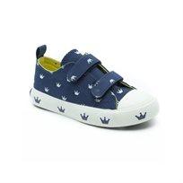 Keds - נעלי סניקרס בצבע כחול-גינס בעיטור כתרים