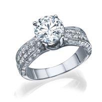 """טבעת יהלומים זהב לבן """"ביאטריס"""" 2.51 קראט"""